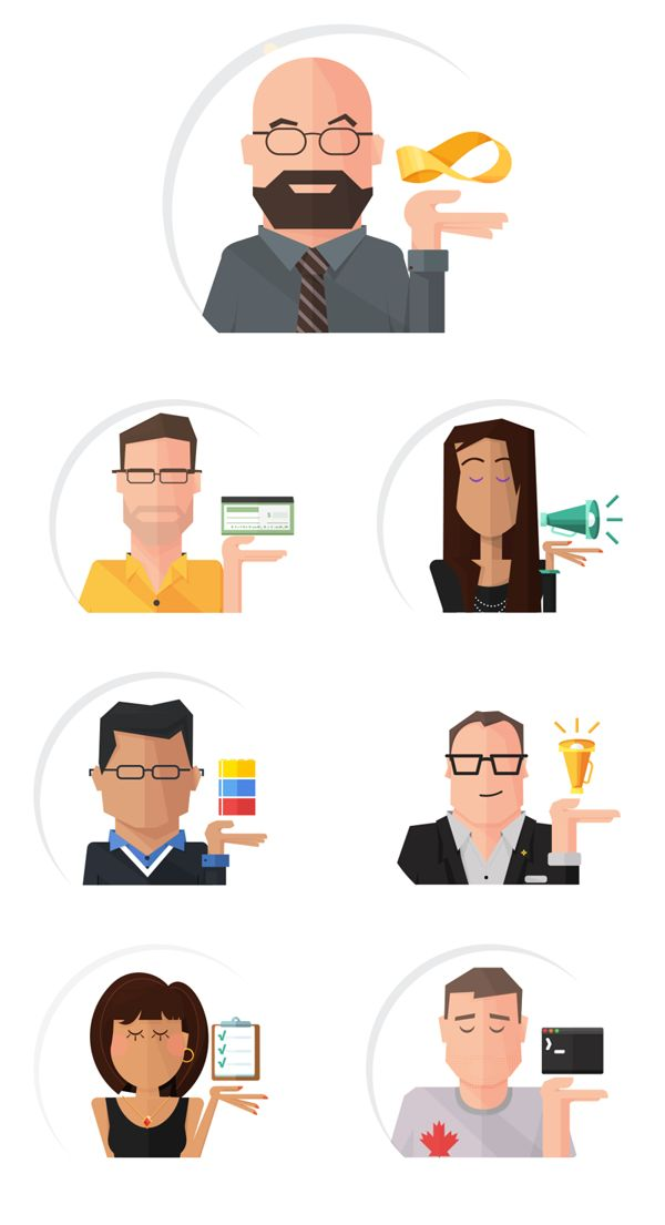 Illustrated Character Business Cards on Behance
