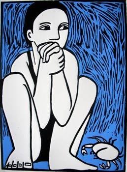Anita Klein ~ Molly, 2008 (woodcut)