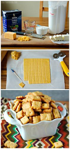 Homemade cheez-it crackers recipe - Great natural snack for kids! #Cheese snacks
