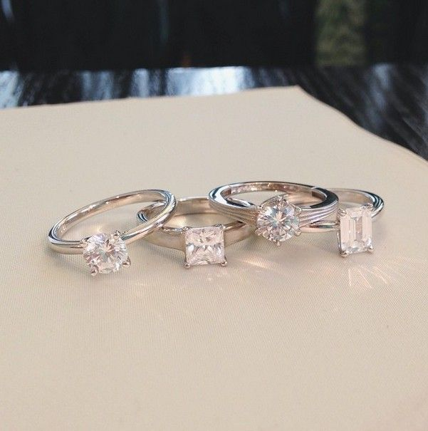 Classic and eternally chic, solitaire engagement rings highlights a dazzling center diamond. #BrilliantEarth