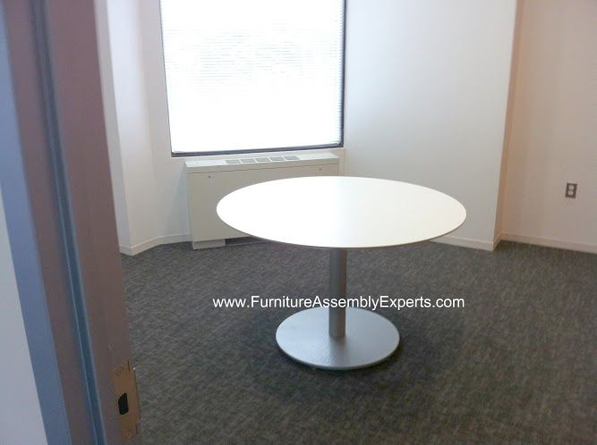 Ikea Small Round Office Conference Table Assembled In Mc Lean Va By Furniture  Assembly Experts Llc