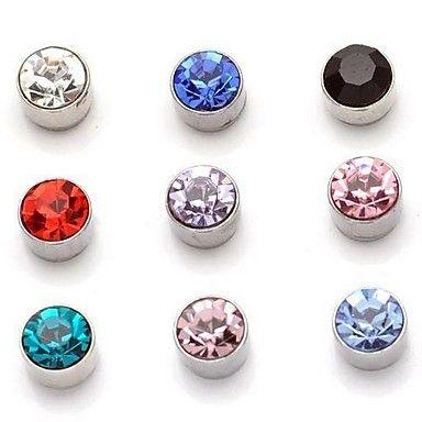 zirkoon+magnetische+zuigkracht+diamanten+oorbellen+magneet+oorbellen+geen+oor+gat+van+een+paar+van+de+prijs+–+EUR+€+1.95