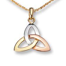Anhänger 'Trinity Knot' in drei Goldtönen     bestellen - THE BRITISH SHOP - englische Damenkleidung online günstig kaufen