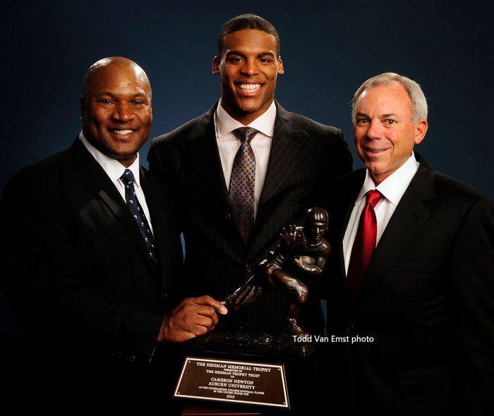 Bo Jackson, Cam Newton, Pat Sullivan. Auburn Heisman winners. WDE.