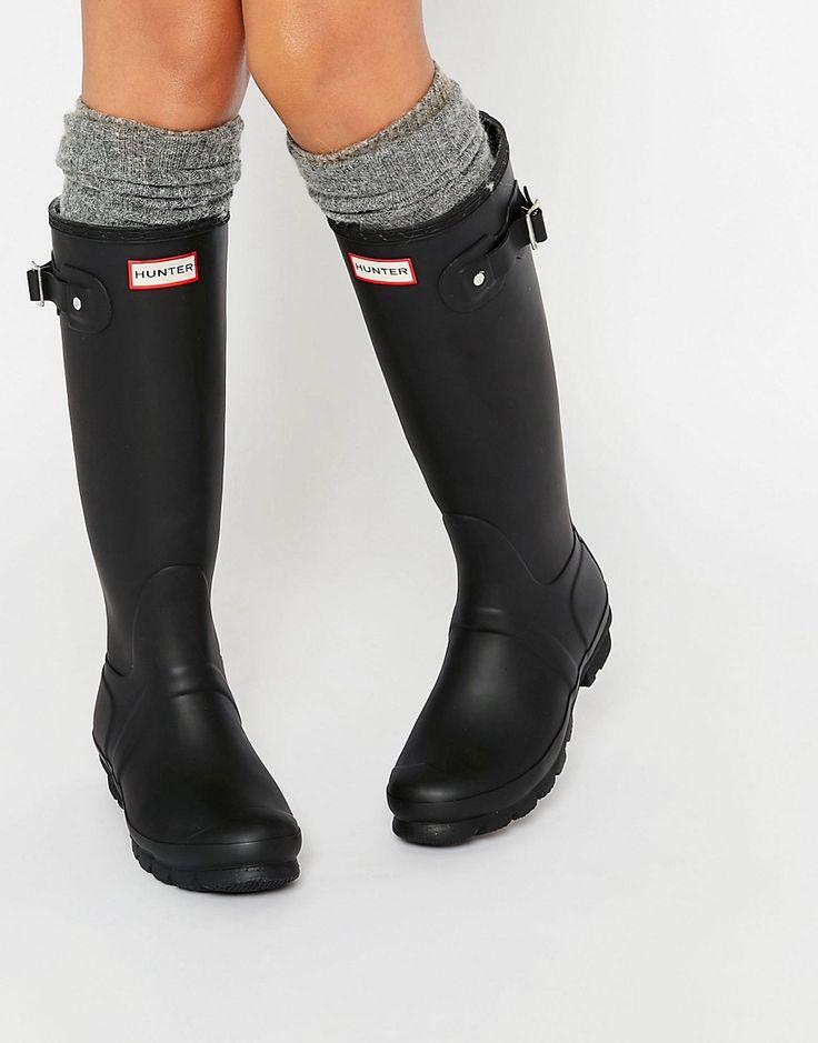 Image 1 ofHunter Original Tall Black Adjustable Wellington Boots
