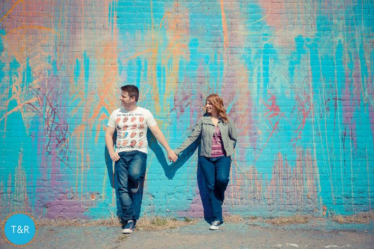 Krista & Tim's Downtown Detroit Engagement Photo Session, Detroit, MI. Photos by Tracy and Riva | Modern Wedding Photography www.tracyandriva.com