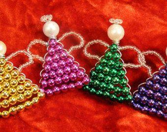 adornos de alambre hecha a mano Ángel conjunto de 8 por RiverZend