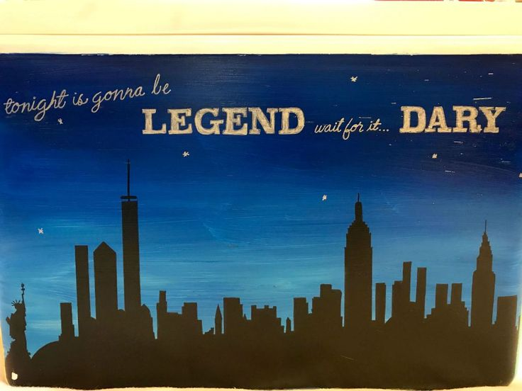 COOLERSbyU Painted Cooler Examples   Tonight is Going to Be Legendary   Tags: city, skyline, legendary, night sky, painted cooler