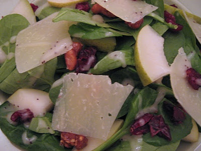 Spinach, Pear, And Shaved Parmesan Salad Recipes — Dishmaps