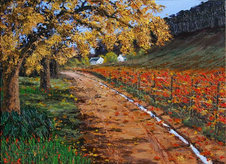 Audacious Autumn. Acrylics on stretched canvas. 460X610mm. R1400.