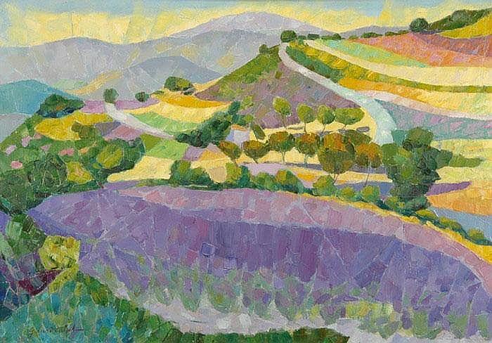 CALVET, GERARD, född 1926 Landskap från Provence.