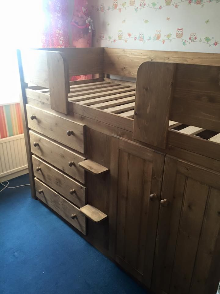 4 Drawer cabin bed in traditional finish. At Aspenn we make bespoke cabin  beds design. Childrens ...
