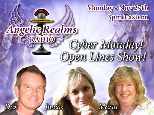 The Co-Founders of The I.A.A.P., Maria G Maas, Janice Fuchs and Dax Carlisle, are BACK On-Air together, for this OPEN LINES Episode! ...It's Cyber Monday!! Open Lines! --- YOU Call in and Set the Topic! …You can also ask questions about working as a practitioner in Tarot, Angels, Mediumship, and get FREE Readings, Live On-Air! Cyber Monday Sale!: Membership in The I.A.A.P. for Just $44! ($50-OFF!) -- Enroll in our Master Practitioner 3-Course Package for $222! (75%-OFF!): www.A...
