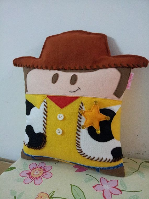 Handmade Toy Story Woody Party Favor Gift Pillow by RbitencourtUSA, $29.95