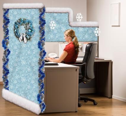 Winter Wonderland Cubicle Cubical Ideasoffice