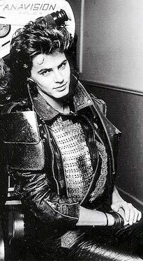 John Taylor on the set of Arena