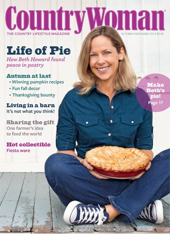 Beth Howard on the cover of Country Woman Magazine!   #pie #baking