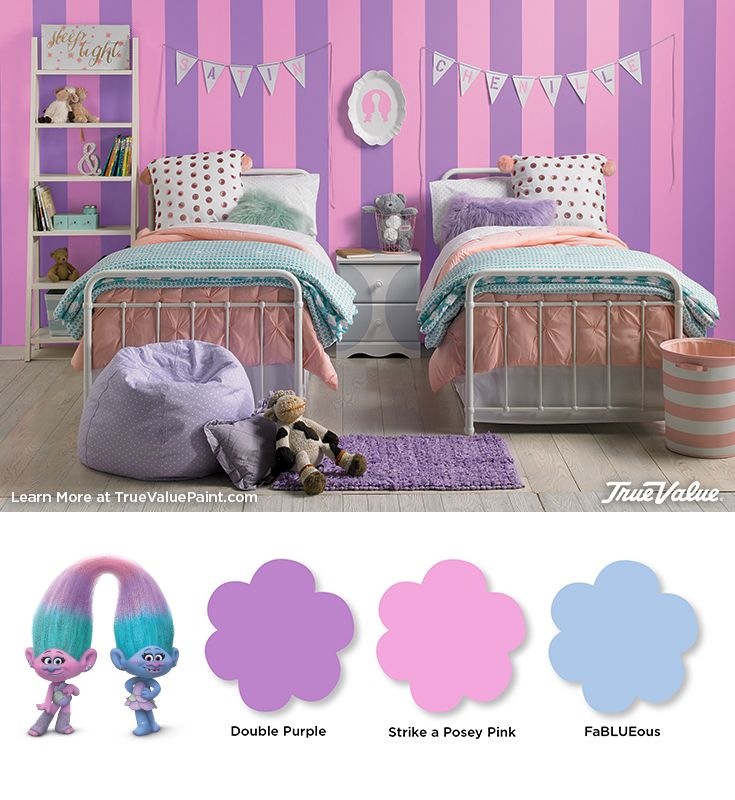Make Satin & Chenille's fashionable bedroom come to life with these shades of EasyCare paint from True Value.