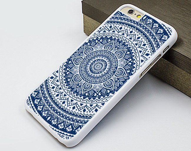 cool iphone 6 case,mandala flower iphone 6 plus case,blue flower iphone 5s…