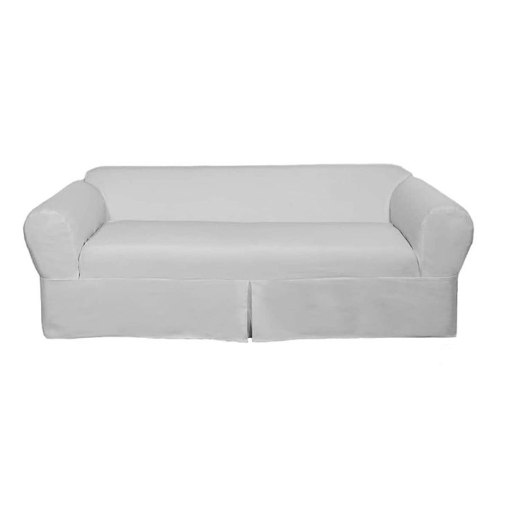 Classic 2-piece Twill Sofa Slipcover | Overstock.com Shopping - The Best Deals on Sofa Slipcovers