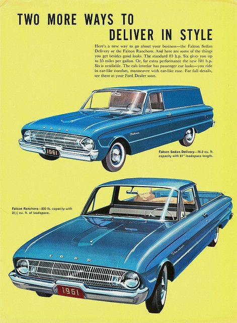 Ford Falcon | 1961 Ford Falcon Sedan Delivery & Ranchero