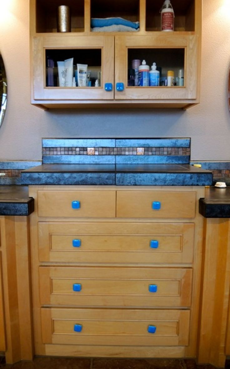 Deep Turquoise Blue Art Glass Cabinet Knobs And Pulls By Uneek Glass  Fusions. Www.
