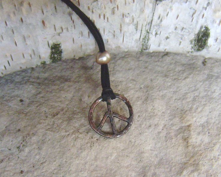 Witch's Foot, Peace Symbol, Hippie Symbol,,  Symbol of Love,  Druid's Foot, Raven's Foot, Nero Cross,  Wiccan Necklace, Symbol of Life by WitchTools on Etsy