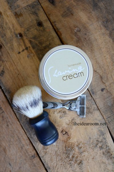 DIY Shaving Cream Recipe for Dad - Whip up this awesome shaving cream for dad and give him a shaving kit for the perfect Father's Day gift.