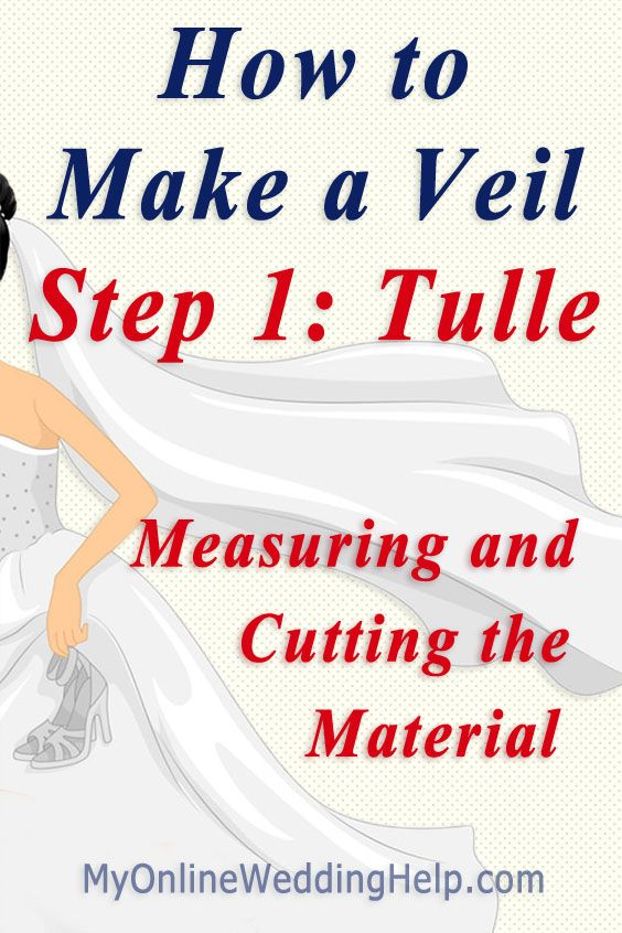 How To Measure And Cut A Veil Make DIY Pattern