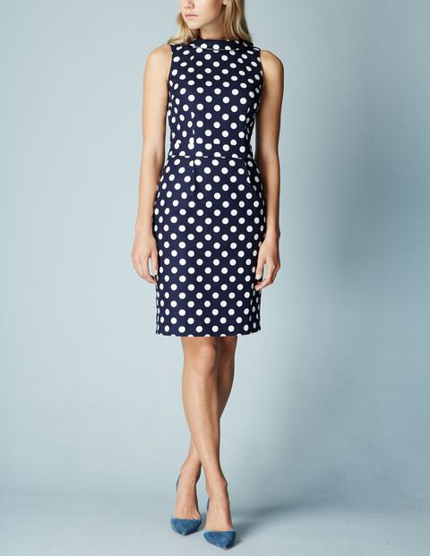 Love this dress! I have been debating about purchasing it. Love the polka dots and high neck detail. Boden - Martha Dress
