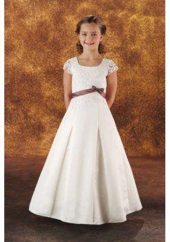 satijnen sjerp met een elegante bloem meisje jurken