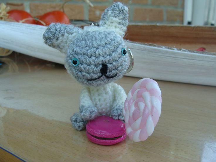 Siamois petit chat en amigurumis réalisé à la main : Porte clés par krysmesdoigtsdefee