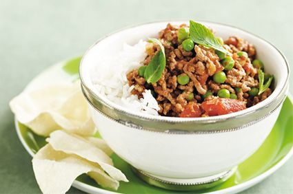 Beef mince and pea curry | Manna Health
