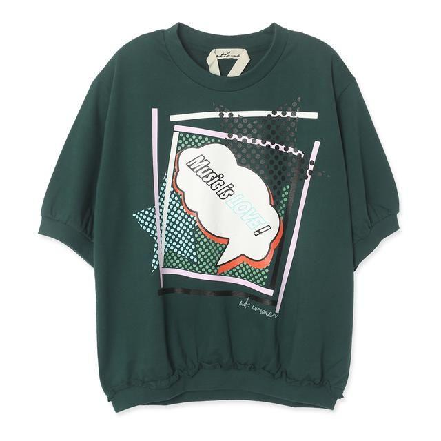 [a.t.corner 앳코너] AME06B547DG 배색프린팅 반팔 티셔츠