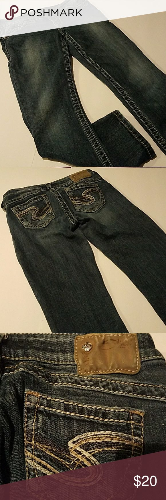 """Silver Jeans Tuesday Capri's Women's Silver Brand Tuesday 16.5"""" Capri's.  Sz. 26 Great Condition. Silver Jeans Jeans Ankle & Cropped"""
