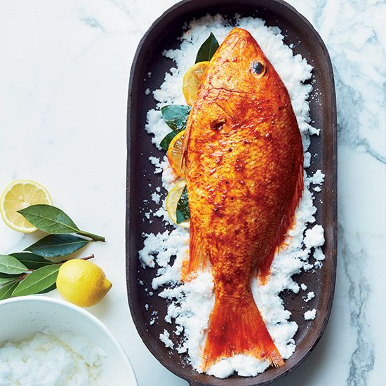 Mixed with egg whites and patted on whole fish, kosher salt hardens in the oven to become a crust that protects food from dry heat. Other options for salt-crust roasting include potatoes, beet—anything, really, with a removable skin or peel.