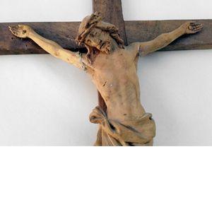 Krucifix / träskulptur / väggkors; 1900 talet