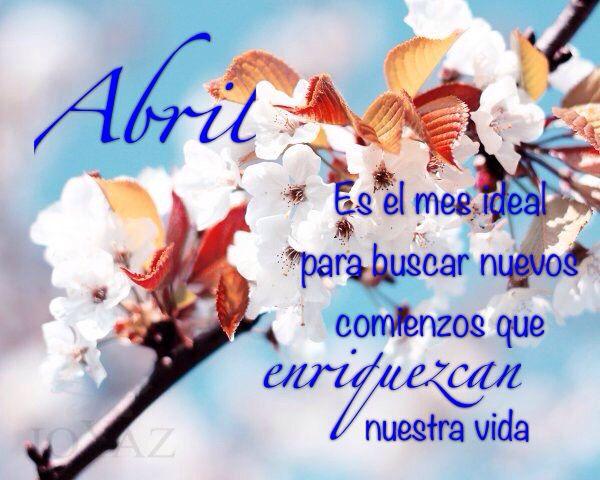 Bienvenido Abril!!