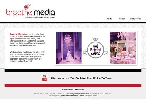 New website designed for www.breathemedia.co.za