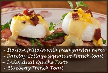 My personal favorite - Eggs Benedict Barclay Cottage Style.
