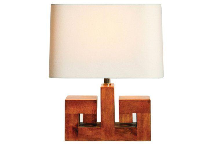 Athena Walnut Lamp