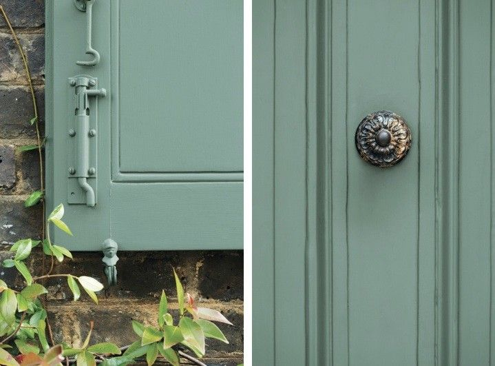 Farrow and Ball, Decorating with Colour, Jon Nicholson, Green Smoke paint on exterior woodwork | Remodelista