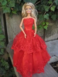 Barbie Gown Radiant in Red