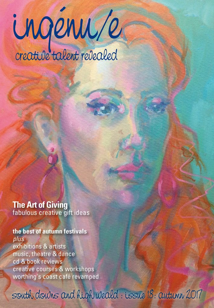 Front cover of ingenue magazine issue 18. Pictured: 'Touching Pink' by Lindy Dunbar www.lindydunbar.co.uk