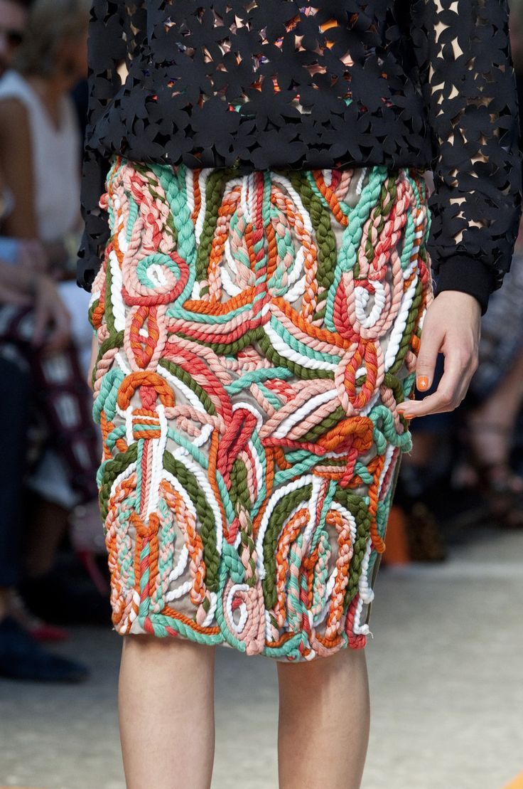 Imagine with rope... And a junk Kouture dress... MSGM - Spring 2014