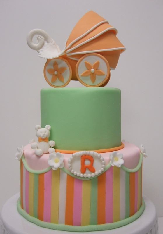 best baby shower cakes cribs/carriages images on, Baby shower invitation
