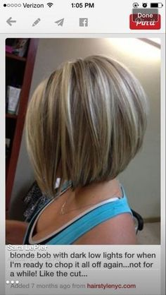 For if I want to chop hair off again :) like cut and color