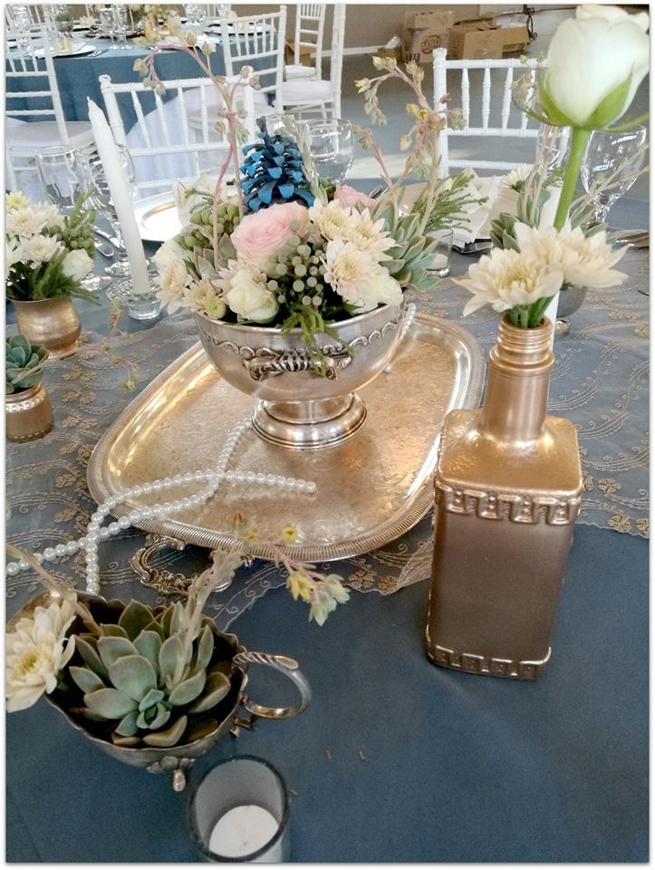 Vintage, rose gold and silver - Decor done by Oak House, Cullinan