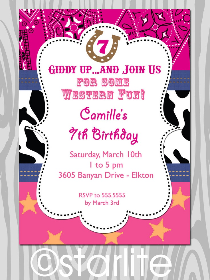 e07cc19e2a5fa0519a1c90ed8a5a57ea invitations western baby boy shower invitations 23 best cowboy surprise party images on pinterest,Free Printable Cowgirl Birthday Invitations
