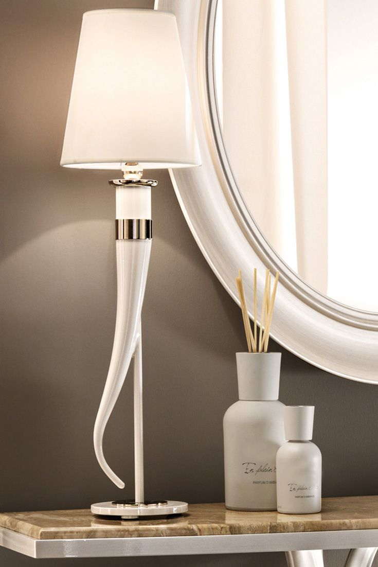 Modern Italian Ivory Table Lamp Juliettes Interiors Table Lamp Lamp Lamp Light